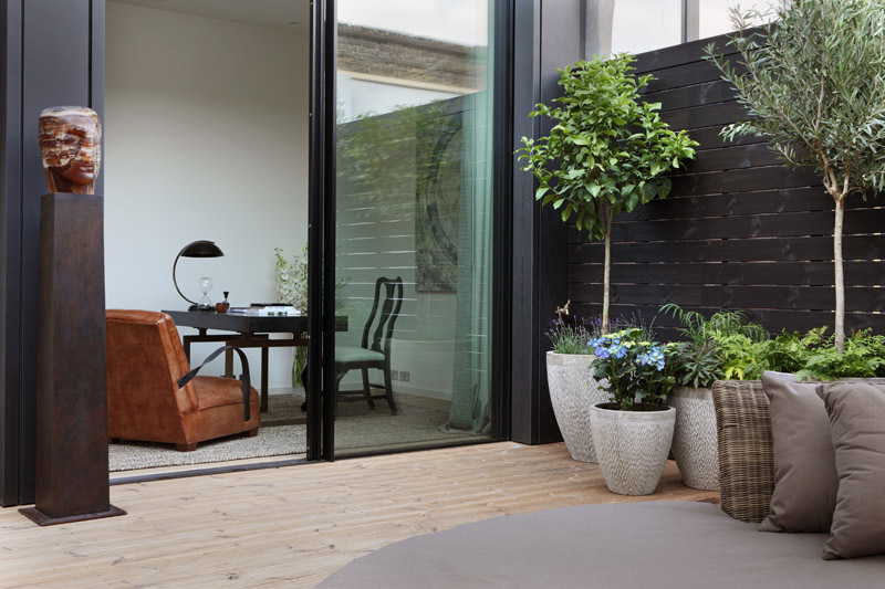 Outdoor space is an important component of the overall scheme.  The Penthouse apartment has three terraces with each bedroom having access to outdoor space