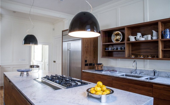 The mews'  contemporary kitchen